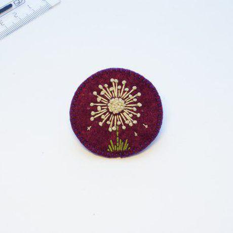 вышивка брошка брошь украшение ручнаяработа фетр подарок