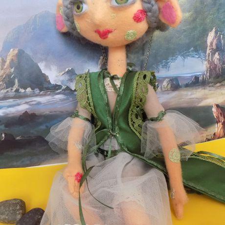 интерьерная авторская фэнтези ручная сказка будуарная необычная кукла фетр