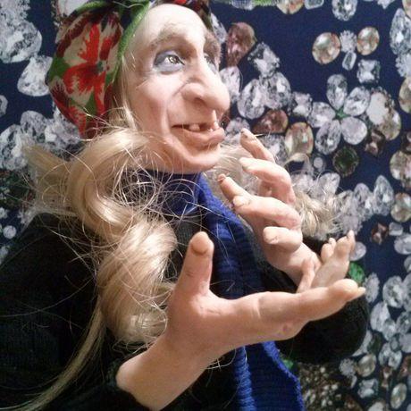 глина работы кукла оберег ручной полимерная сказка русская баба яга