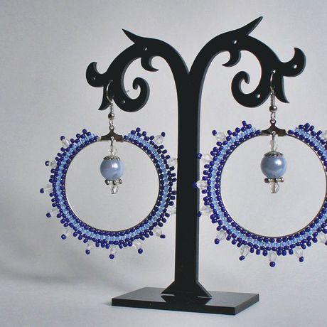 серьги рукоделие бисер лавкалисицы handmade синий бисероплетение ручнаяработа голубой