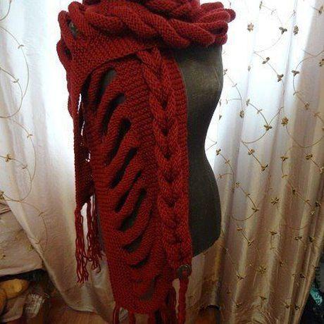 шарф косами палантин с вязанный
