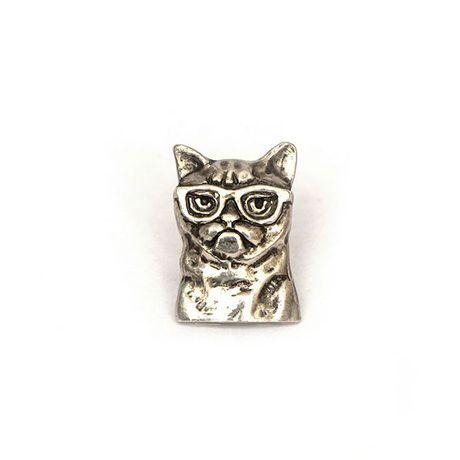 кот бабочка аксессуары женщин молодежный для в бижутерия значок попарт замок на мужчин заказ нательный значки серебряный лацкан кошки очках угрюмый умный хобби стиль