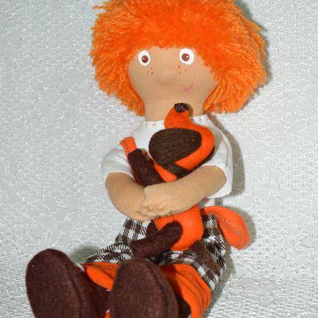единственный антошка рыжий экземпляр кукла ручная работа подарок