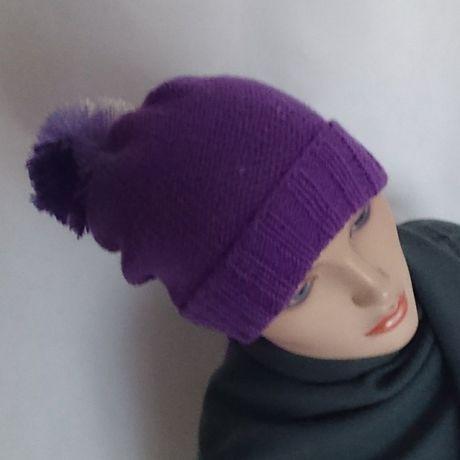 женская вязаная шерстяная купить спицами шёлк шапка мериноса бини шерсть подарок