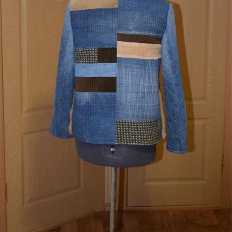 джинс одежда жакет мехондатры женский купить лоскутноешитьё стёжка стиль своимируками hendmade креатив бохо мода