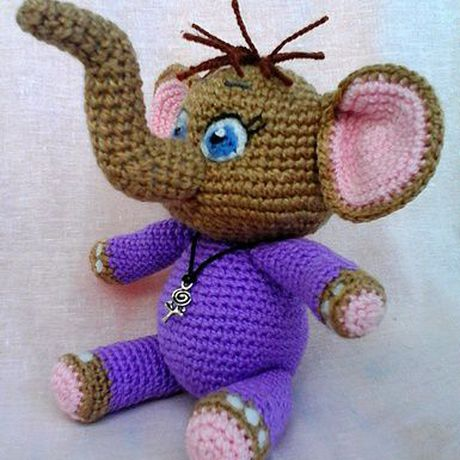 детей слоник игрушка вязание для своимируками крючком подарок