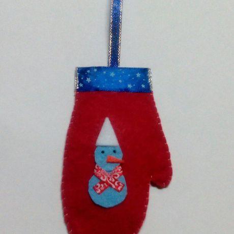 новый игрушки подарки год hand made лента снеговик атласная фетр