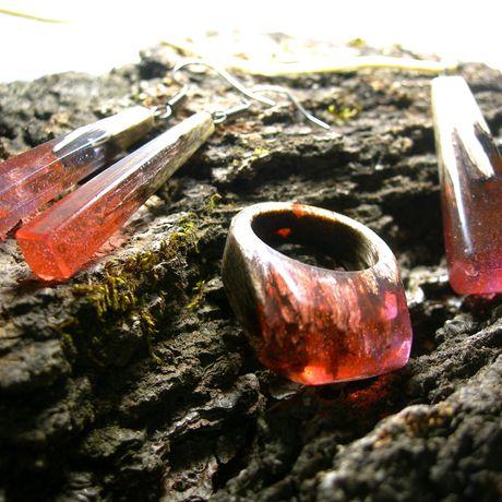 кольцо эксклюзив издерева ювелирнаясмола подарок