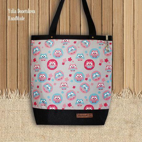 а4 совы путешествие сумка текстиль сова ткань подарок