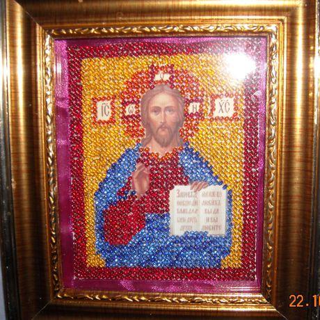 образ иисуса христа икона бисером