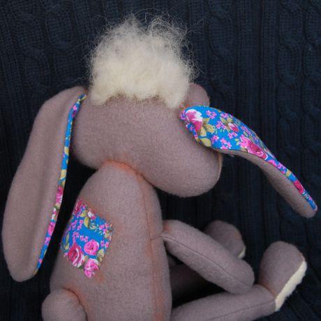 игрушка позитив ручная кролик авторская работа чаепитие подарок