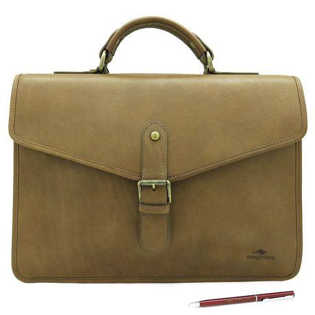 портфель кожаный cangurione handmade мужской