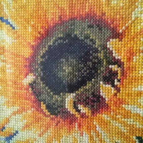 дома подсолнух вышивка для интерьер цветы яркий цветок лето подарок