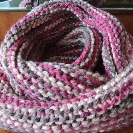 объемный хомут аксессуар шарф женский снуд теплый