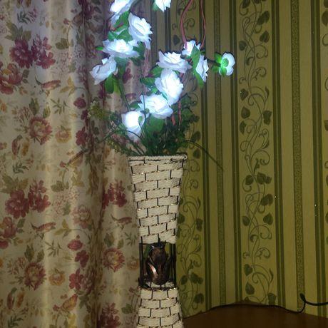 ваза ночник светильник светодиодный цветы