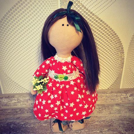 интерьерная тыквоголовка декор интерьер девочки кукла подарок