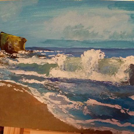 волна акрил картина море