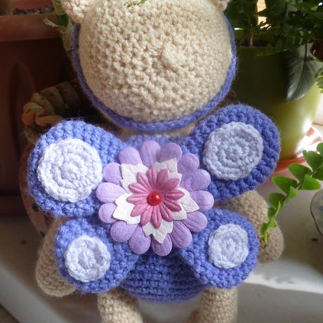 цветочек мишка вязание игрушка дети