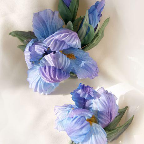 ирисы украшения аксессуары цветыизшелка ручнаяработа цветы