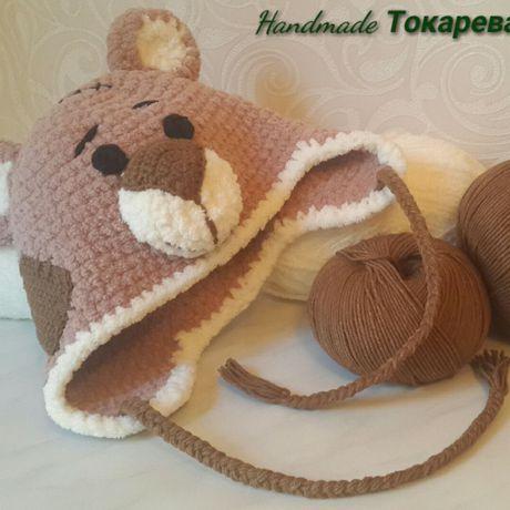мальчика теплая фотосесии вязанная новорожденного  мишка тедди для в шапочка подарок
