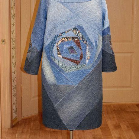 джинс одежда пальто купить лоскутноешитьё стёжка стиль своимируками hendmade женское креатив бохо мода