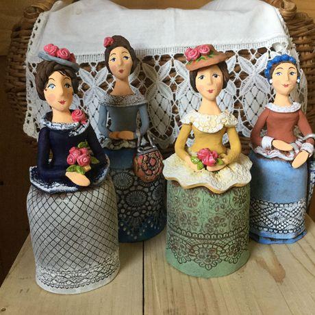 керамика фигурки барышни
