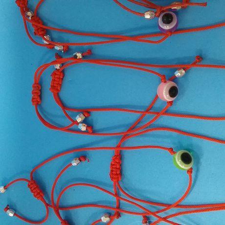 браслет красная глаз бижутерия нить