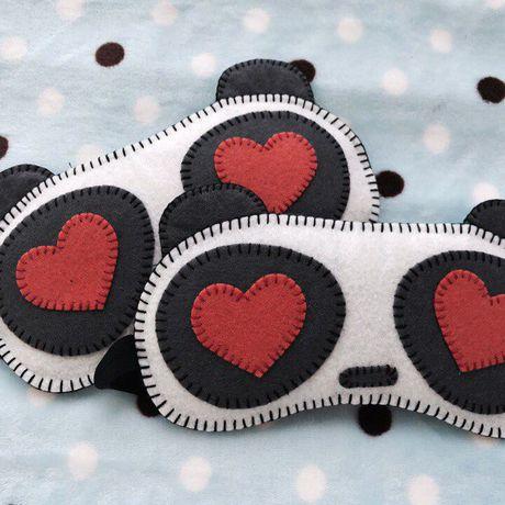 маскадлясна handmade bogiboo защитаотсолнца сердце сувенир панда ручнаяработа фетр защита подарок