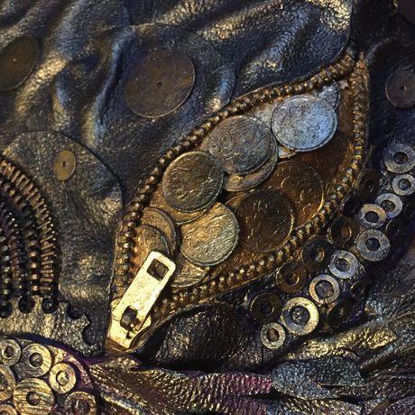 красиво рыбы деньги краска кожа акрил хедмейд