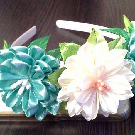 аксессуарнаголову ободокдлядевочек ободоксцветами канзаши ручнаяработа подарок