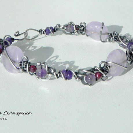 cvetkova браслет handmade серебро wirewrap