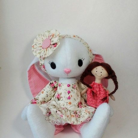 интерьерная зайчик плюшевый игрушка зайка девочке мягкая заяц зая в ребенку подруге купить девочка девушке подарок
