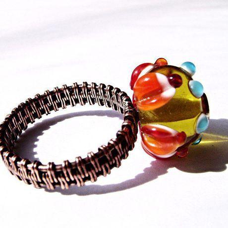 оранжевый медь купить бижутерия кольцо подарок медное меди
