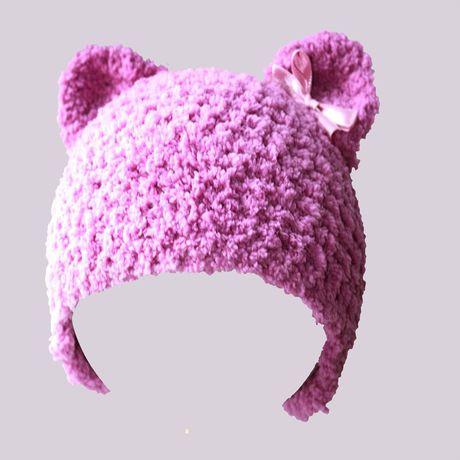 и шапка аксессуары ушастая ручная детские плюшевая детям шляпы шапки медвеженок ушками продажа купить связанное шапочка работа крючком с