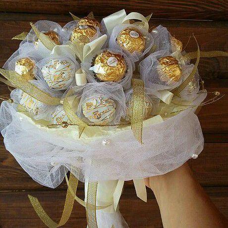 сюрприз букет 8марта цветы деньрождения букетизконфет подарок