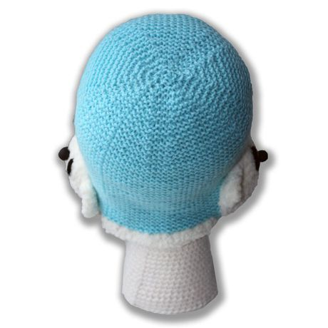голубая спицами и аксессуары мягкая мишка ручная милая детские малыша для плюшевая детям шляпы шапки наушники продажа купить связанное работа умка