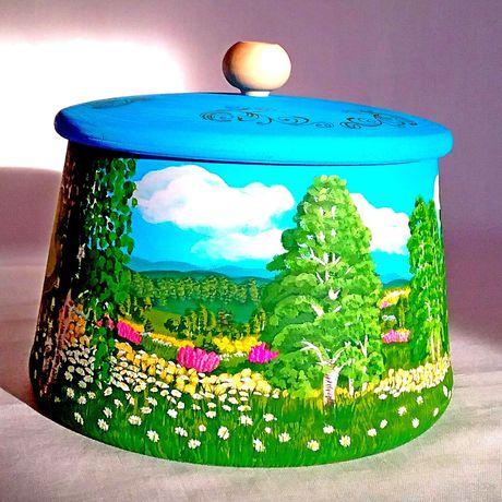 необычное пейзаж праздники сувенирручнойработы деревянная подарокручнойработы посуда подарки сувенир емкость сувениры подарок