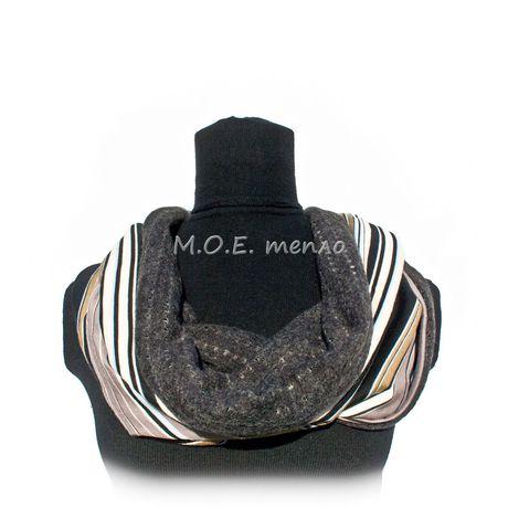 двойныеснуды шапка аксессуары модно женственно элегантно полосатый стильно снуды торжественно шапки полосы шарфы моетепло аксессуар шарф тепло снуд голубой красиво