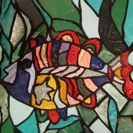 мозаикаизкожи рыбы подводныймир картиныизкожи