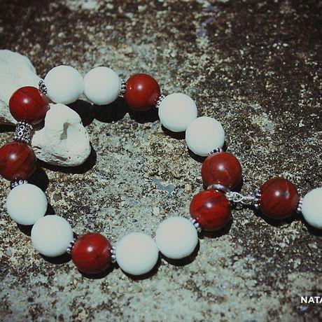 красная яшма украшение браслет агат натуральные серебро камни подарок