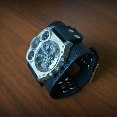 часы часынаширокомремешке аксессуары handmade браслетизкожи часынаширокомбраслете часыручнойработы часынаручныекупить часовоймеханизм наручныечасымужские подарокмужчине ручнаяработа кожа натуральнаякожа