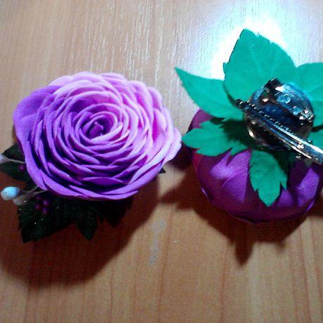 подарки брошь своимируками роза украшение ручнаяработа
