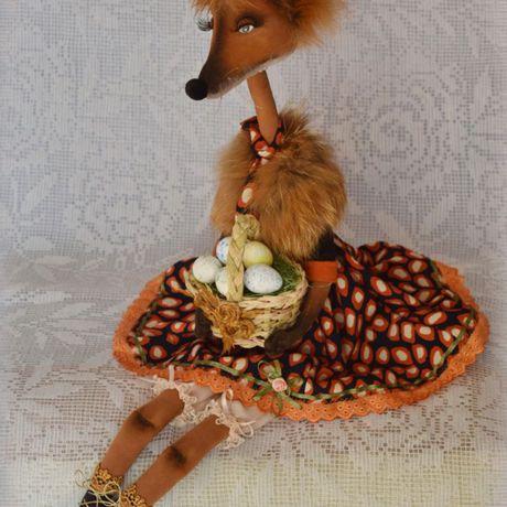 текстильнаяигрушка декор ручная игрушка авторскаякукла сувенир купитьподарок лиса интерьернаяигрушка своимируками работа радость hendmade подарок