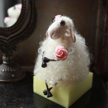 овечка купить шерсть100 игнушка ручнаяработа подарок