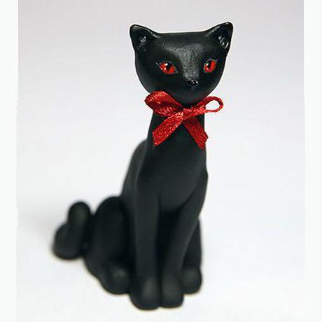 акрил пластик фигурка черная кот кошка подарок