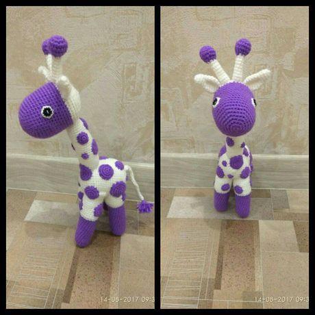 детям мягкая игрушка ручнаяработа назаказ жираф подарок