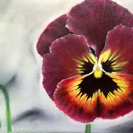 картины холст цветы масло