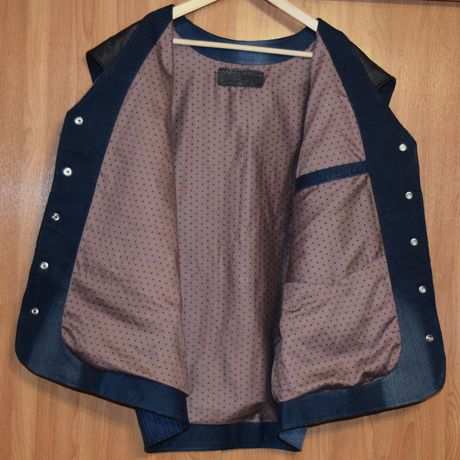 джинс одежда кожа кэжуал купить стиль своимируками hendmade жилет креатив мужской мода