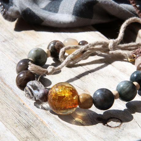 грозовой золотистый солнечный пасмурный туча графитовый натуральные серый браслет