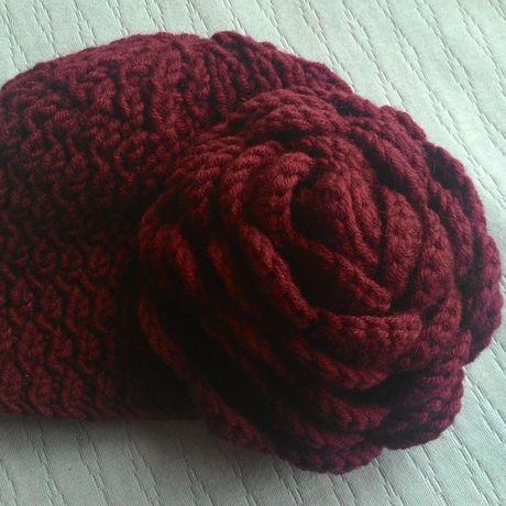 спицами шапка одежда девочек детская розой детские вязание для шапки с осенние